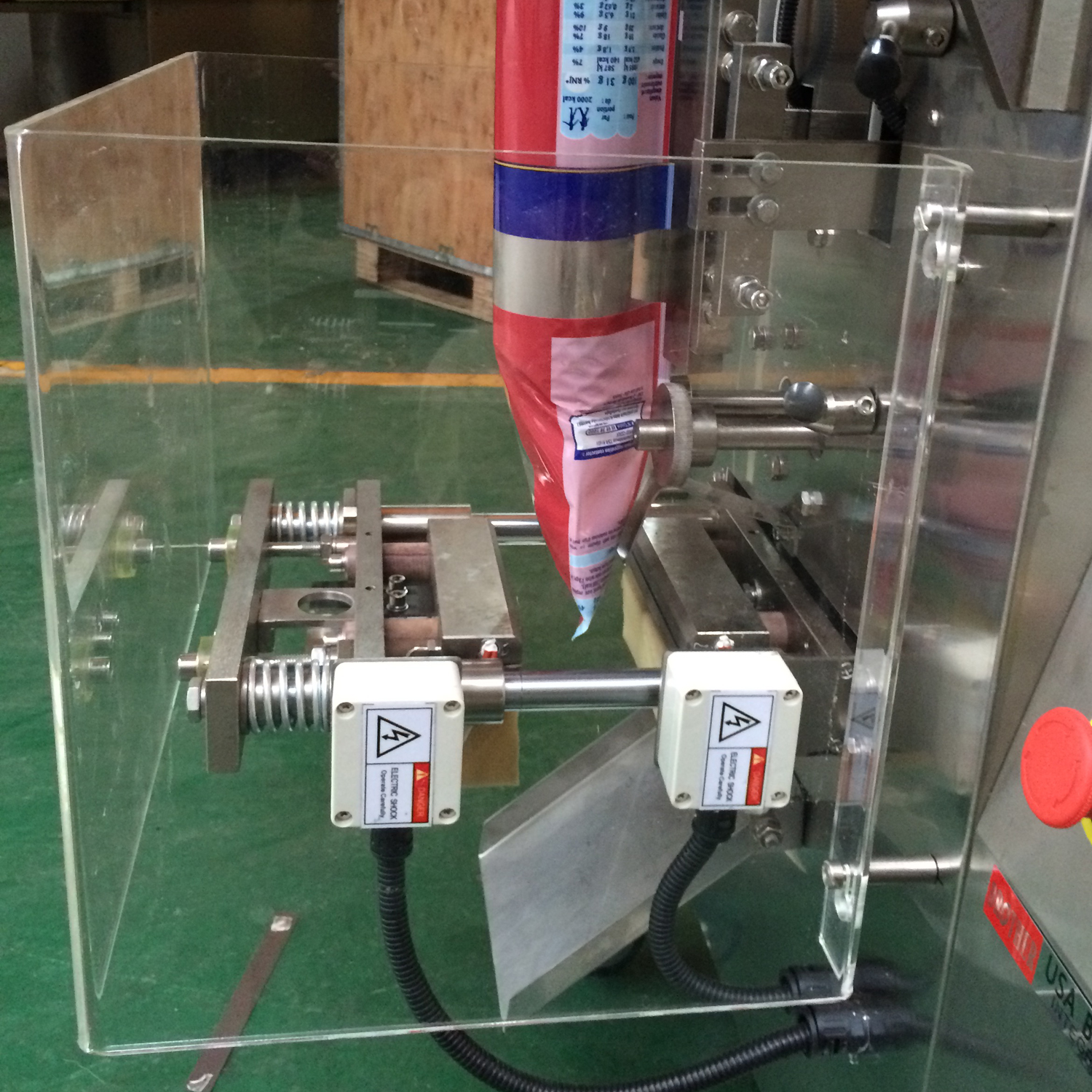 granule pouch packing machine sealing part