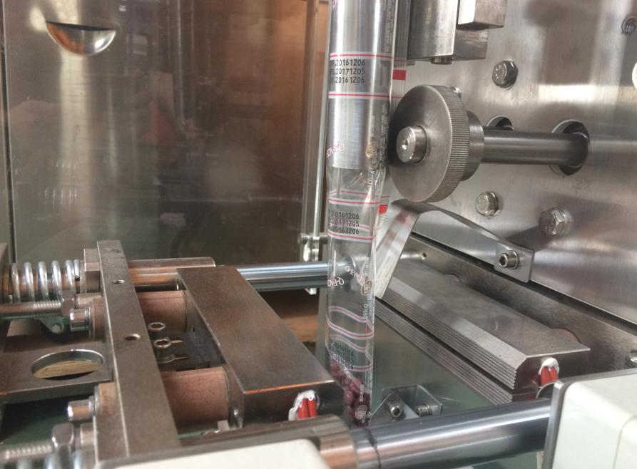sachet powder packing machine sealing part