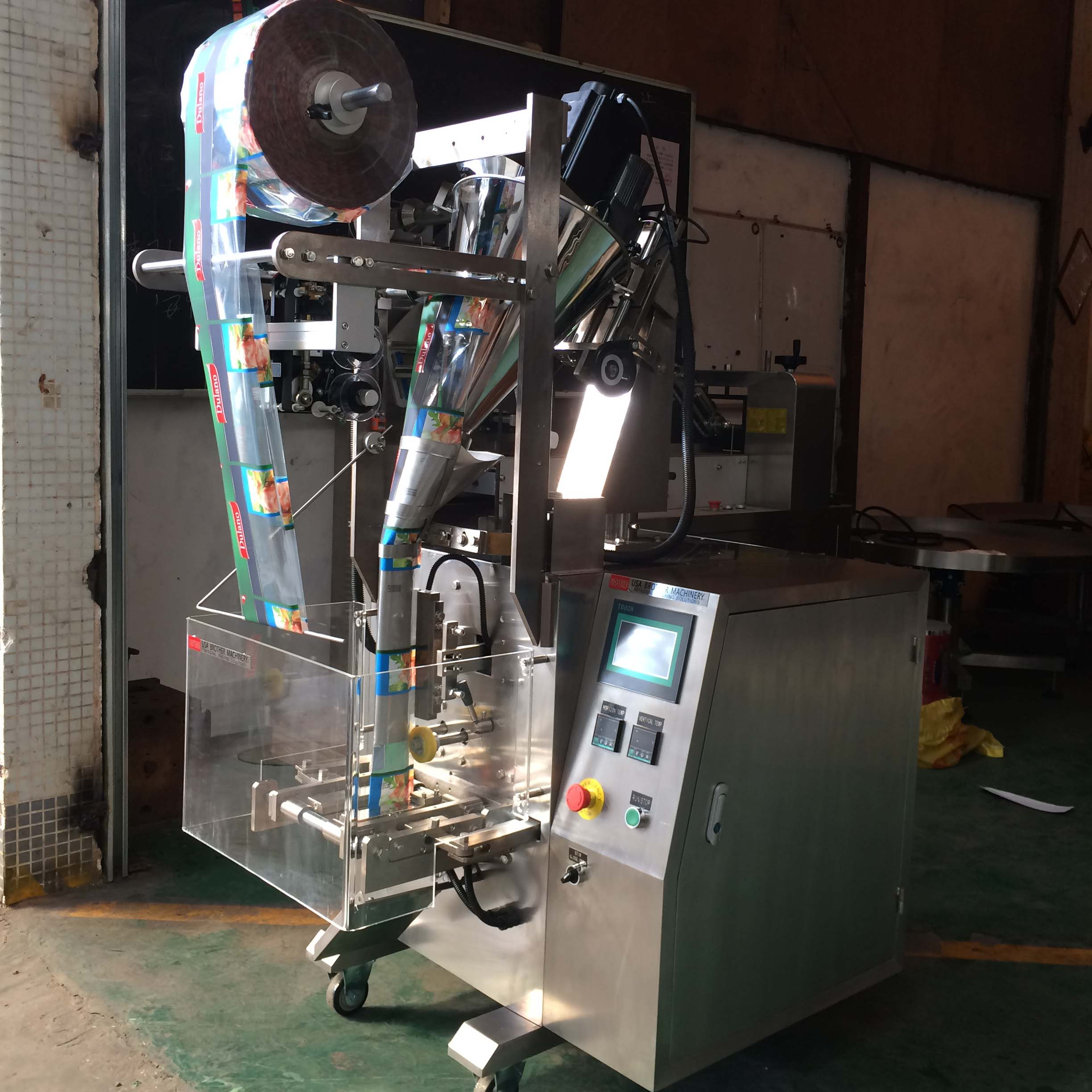 sachet powder packing machine real picture