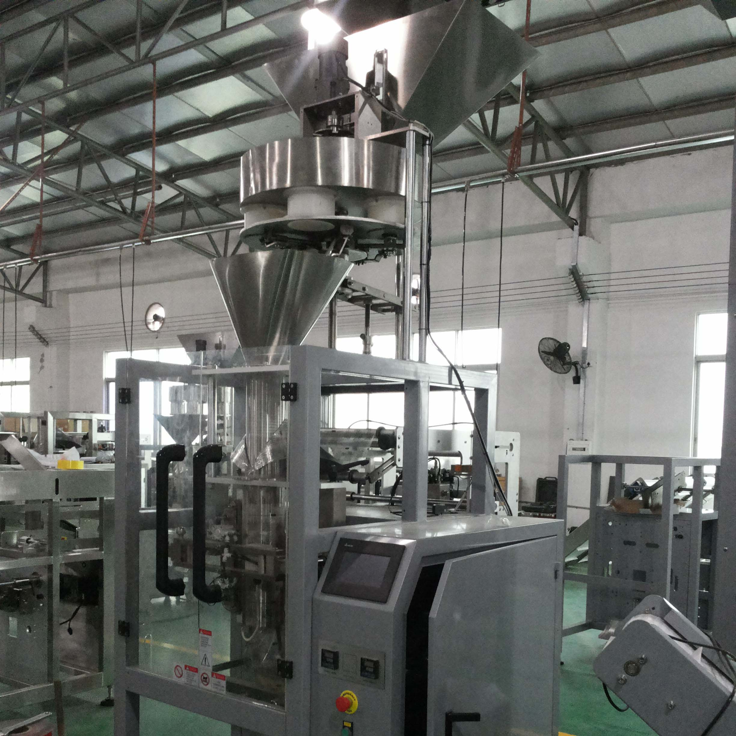 Automatic vertical grain bag packing machine feeding system